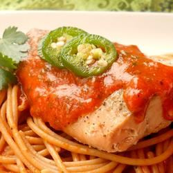 Red Pepper-Salmon Pasta