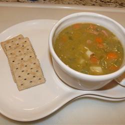 Slow Cooker Split Pea Sausage Soup SpiceCooks