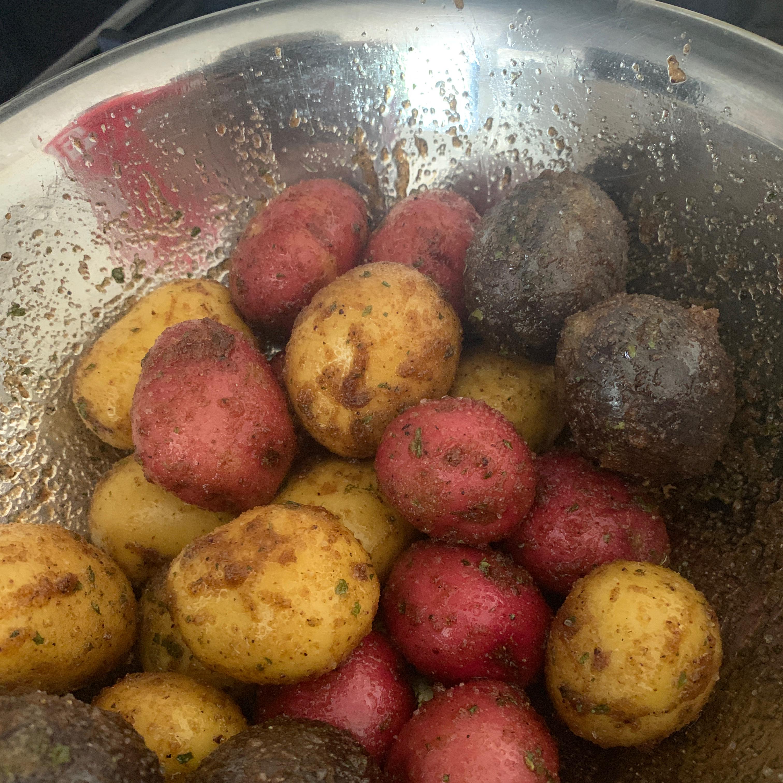 Balsamic Grilled Baby Potatoes Gata Negra