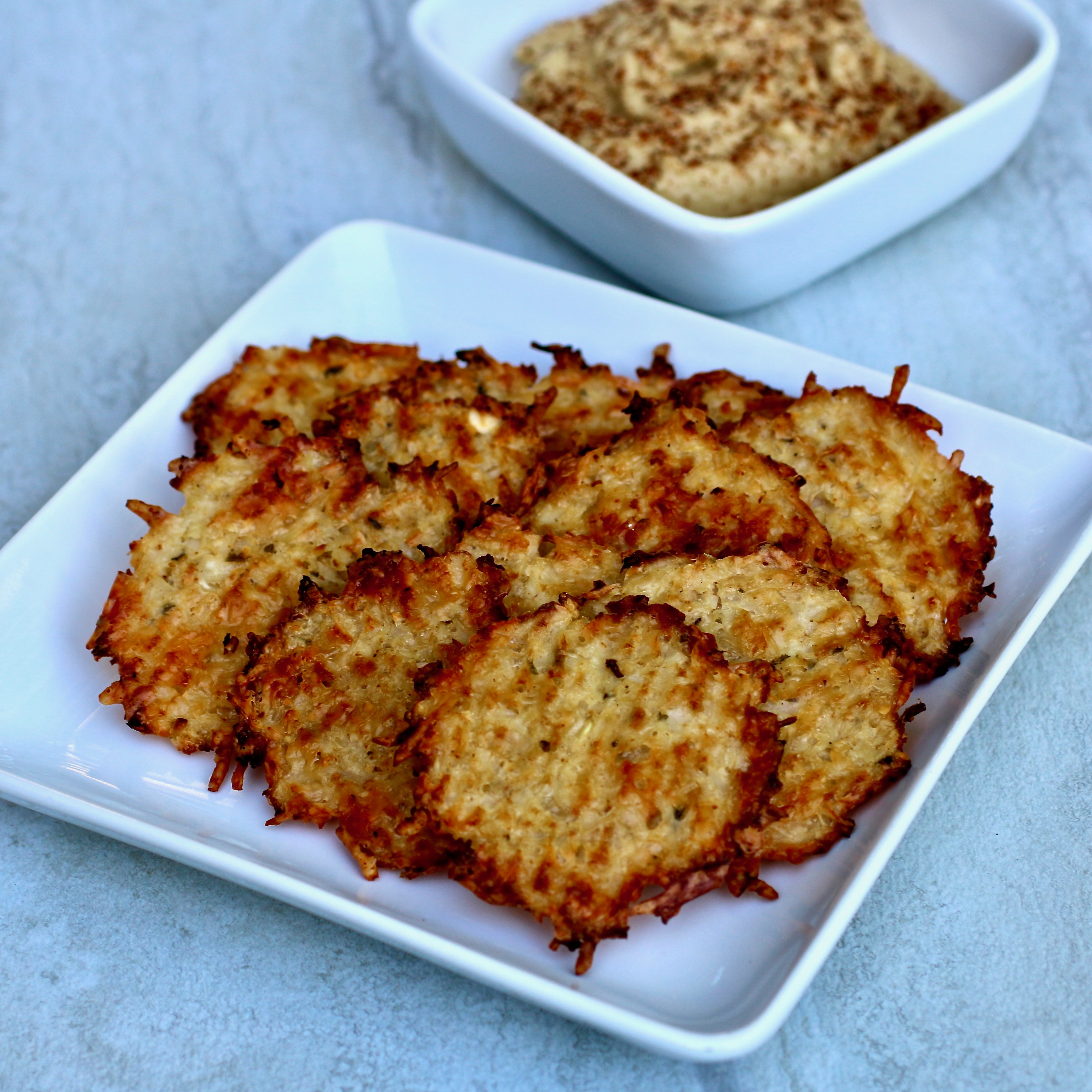 """It's a cake, it's a cracker, it's another creative use of cauliflower! """"A spicy keto cracker made with cauliflower instead of flour!"""" says My Hot Southern Mess. """"The perfect low-carb cracker. Store in an airtight container."""""""
