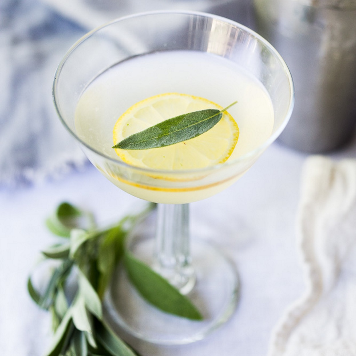 Bright and refreshing, this gin gimlet is made with sage-infused simple syrup and muddled fresh sage. This light and festive cocktail is perfect for fall gatherings, such as Thanksgiving. This recipe makes enough simple syrup for about 8 cocktails and can easily be doubled for a crowd. Source: EatingWell.com, September 2019