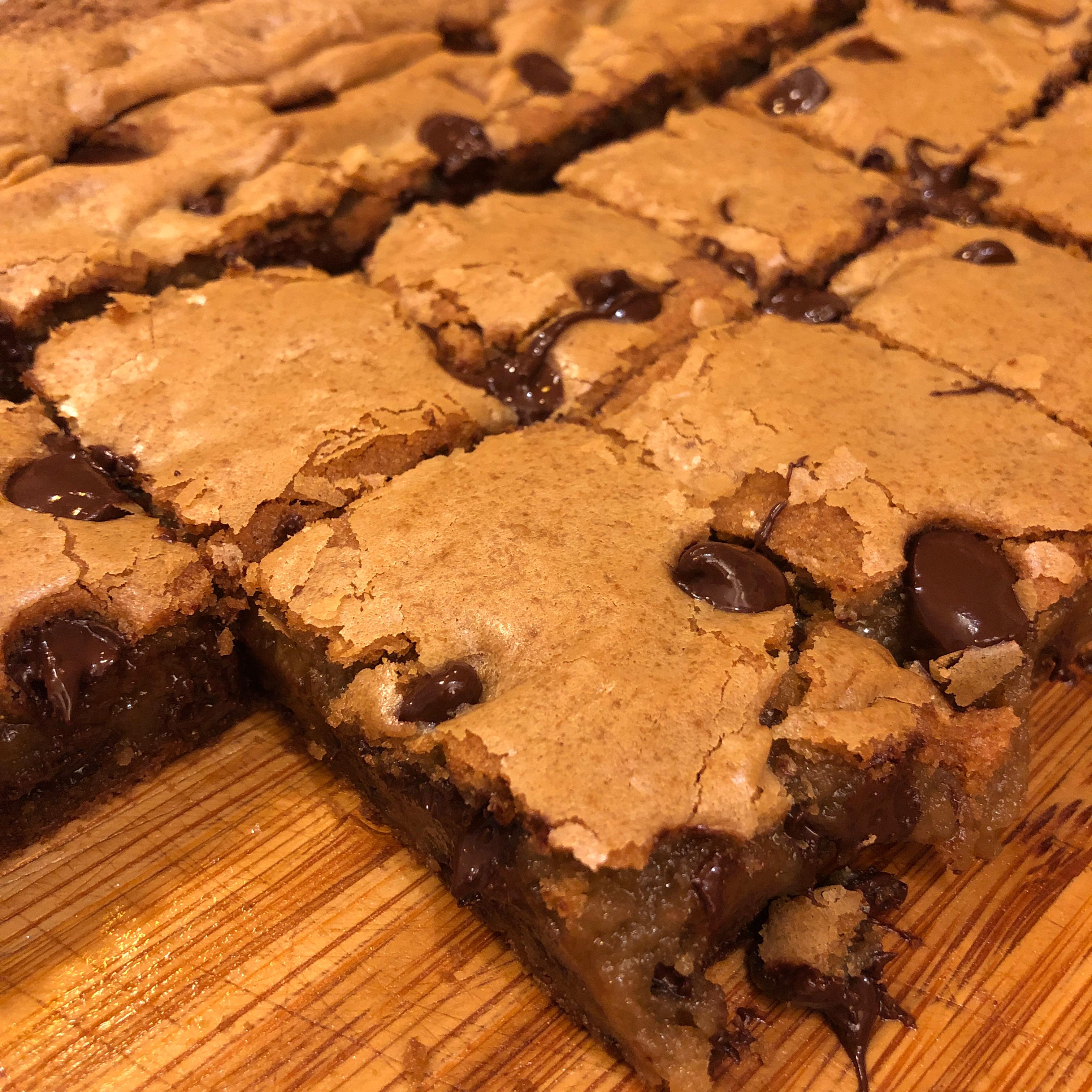 Kirsten's Dark Chocolate Chip Cookie Bars