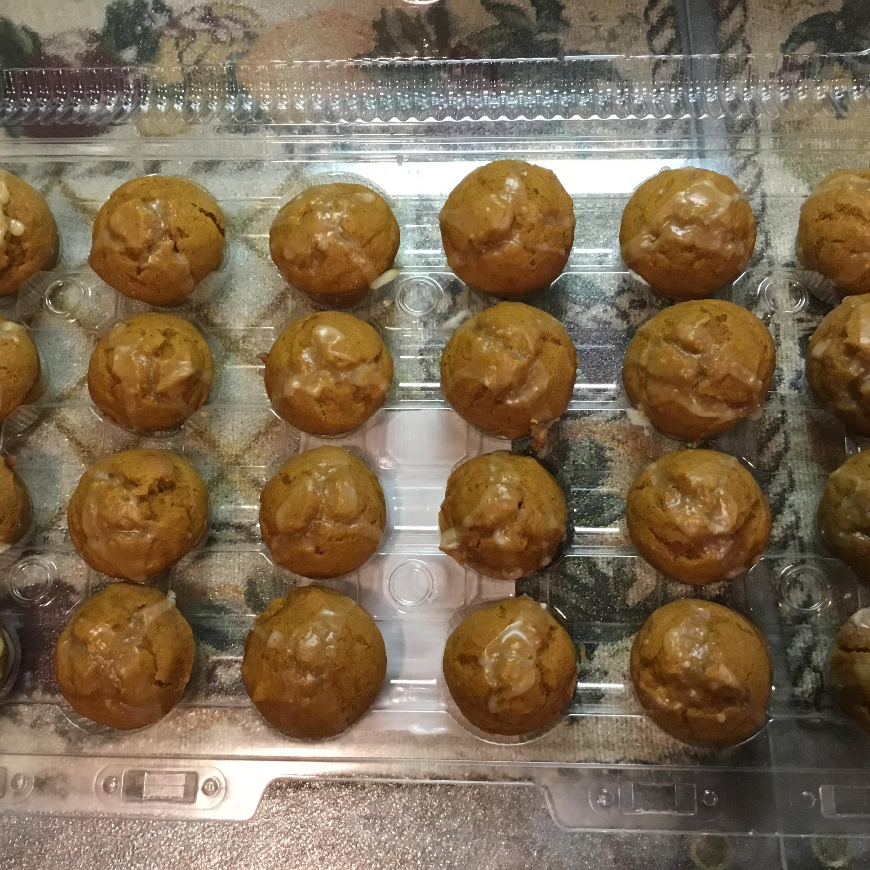 Mini Pumpkin Muffins with Orange Drizzle Caroline R