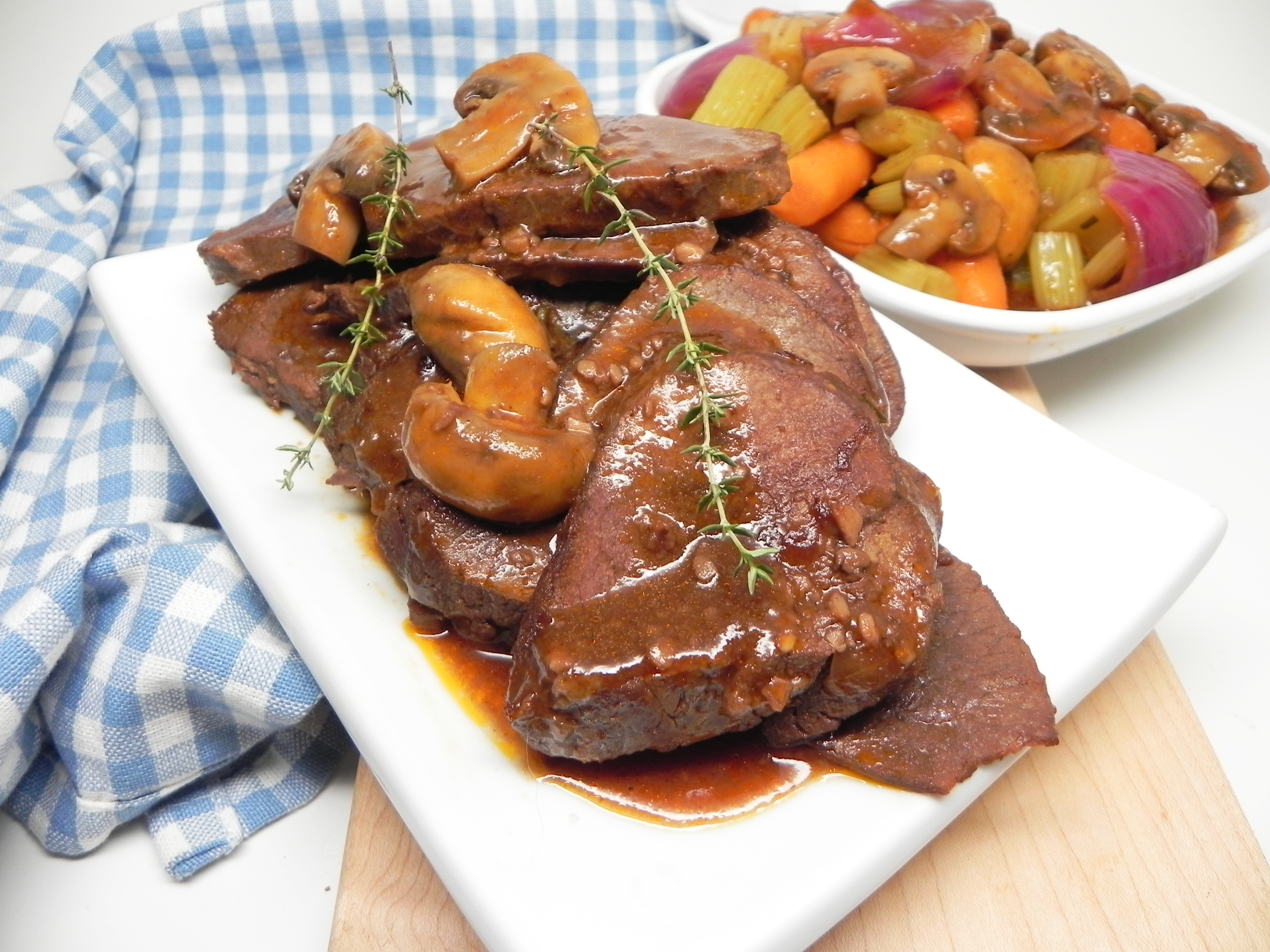 Apple Cider Pepper Pot Roast (Pressure Cooker Recipe)