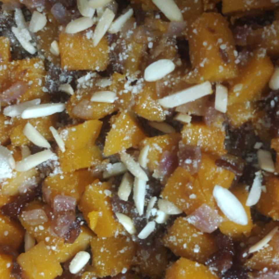 Butternut Squash With Cranberries and Almonds Toni
