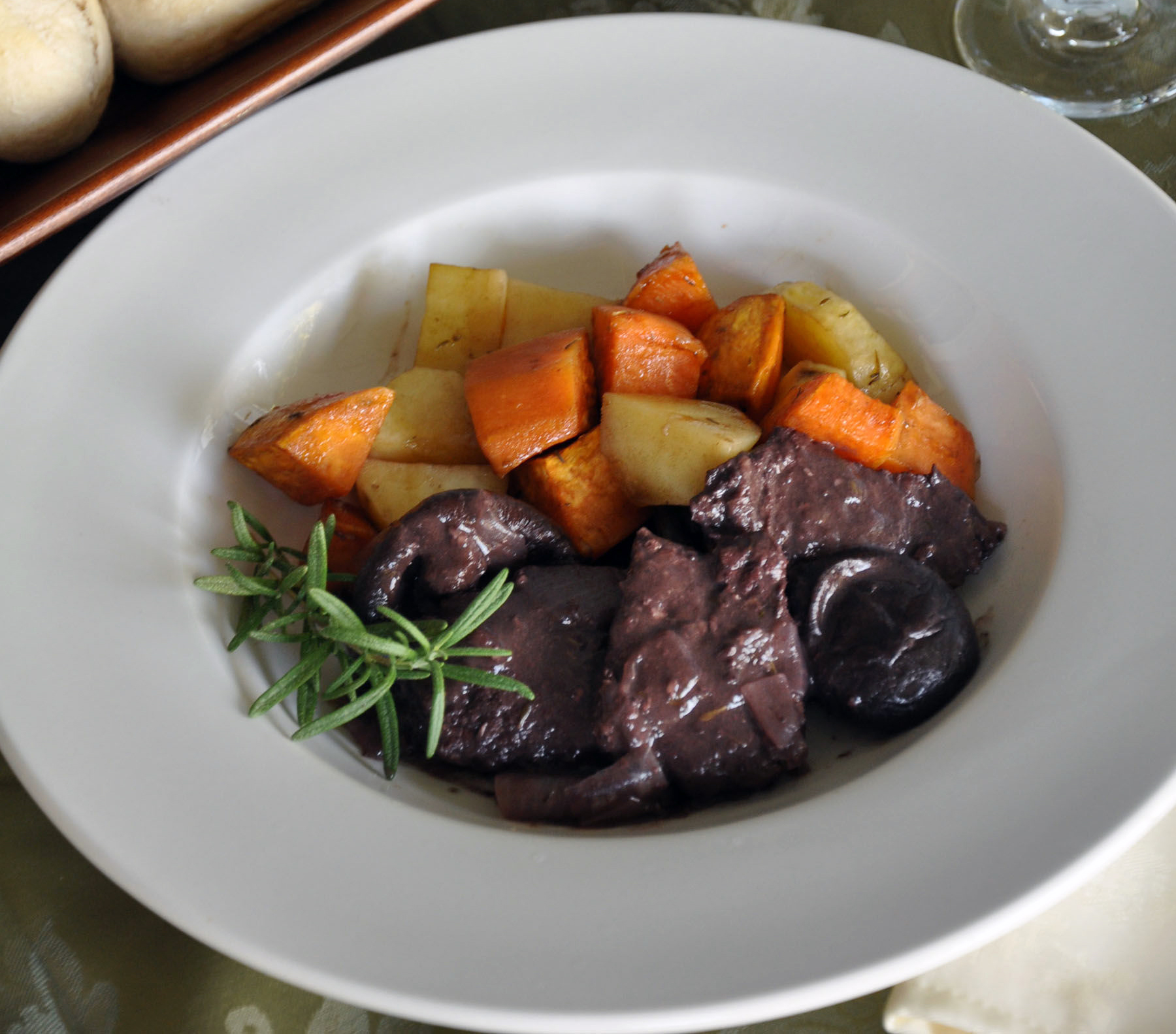 Braised Venison with Rosemary and Shiitake RUTHWARD