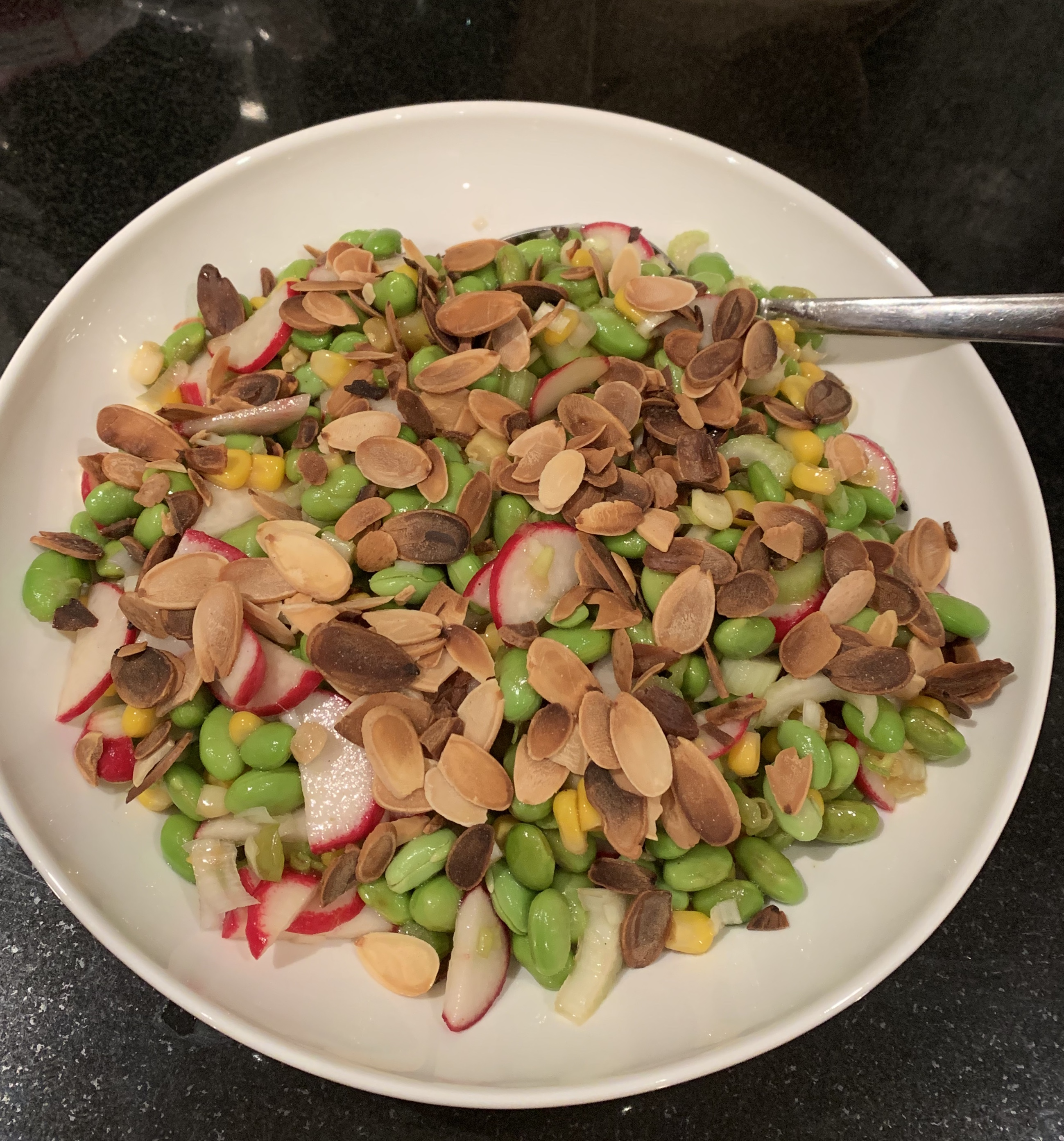 Asian-Inspired Edamame Salad A person