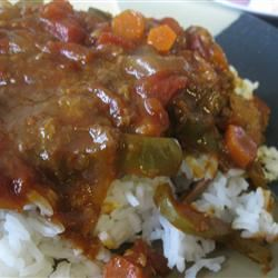Slow Cooker Sloppy Swiss Steak mommyluvs2cook
