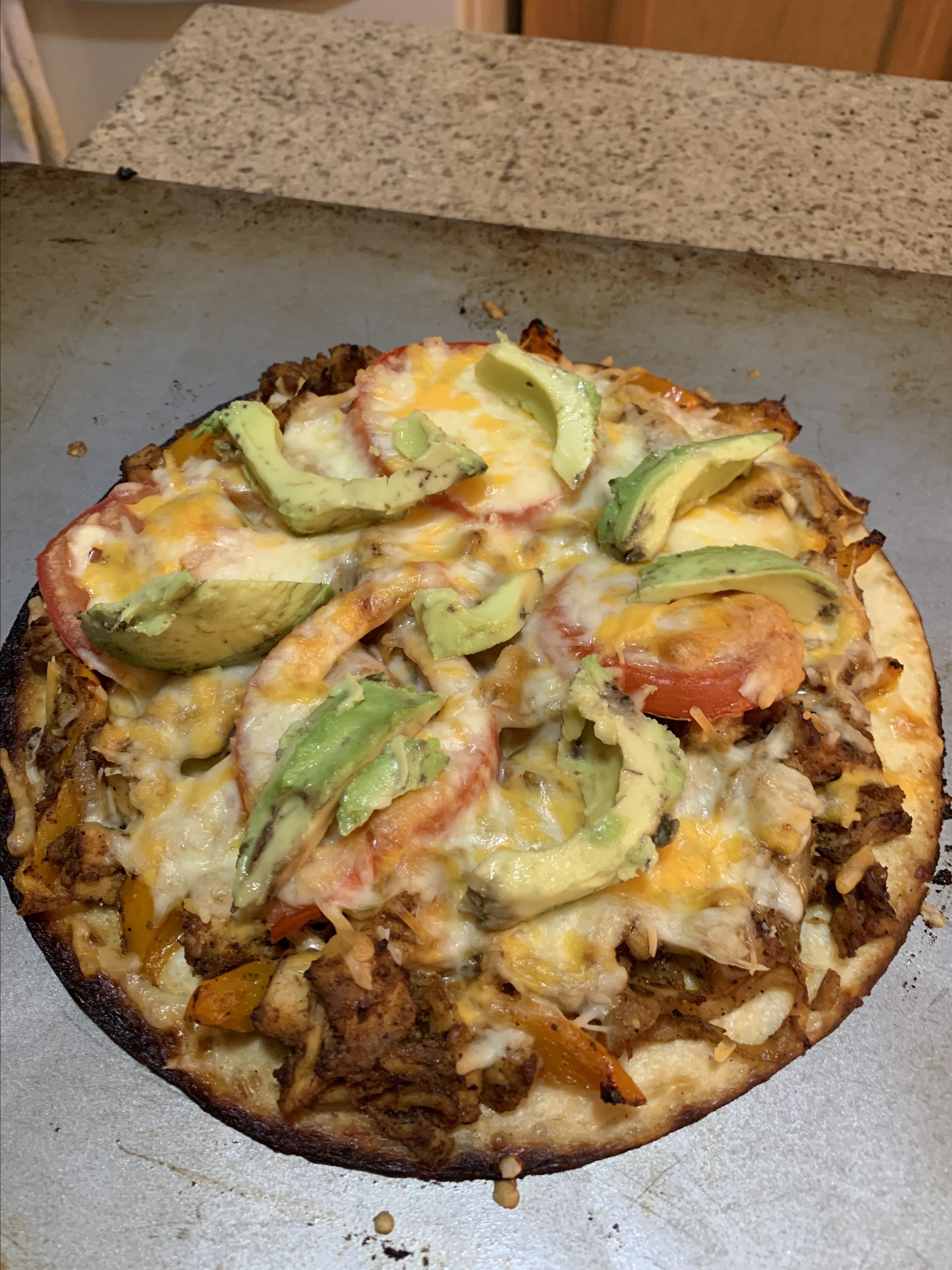 Chicken Fajita Cauliflower Pizza Debbie Key