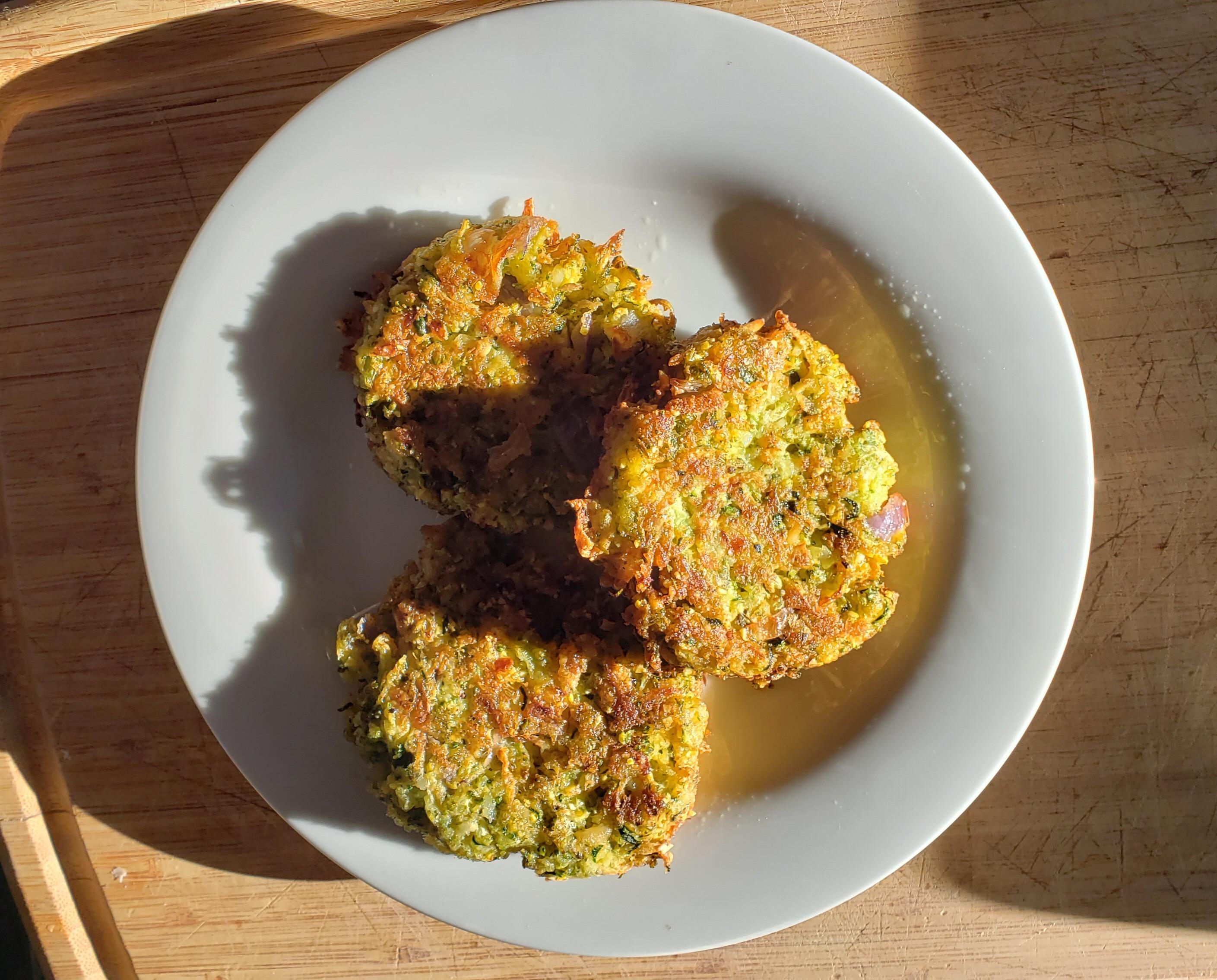 Zucchini-Parmesan Cheese Fritters