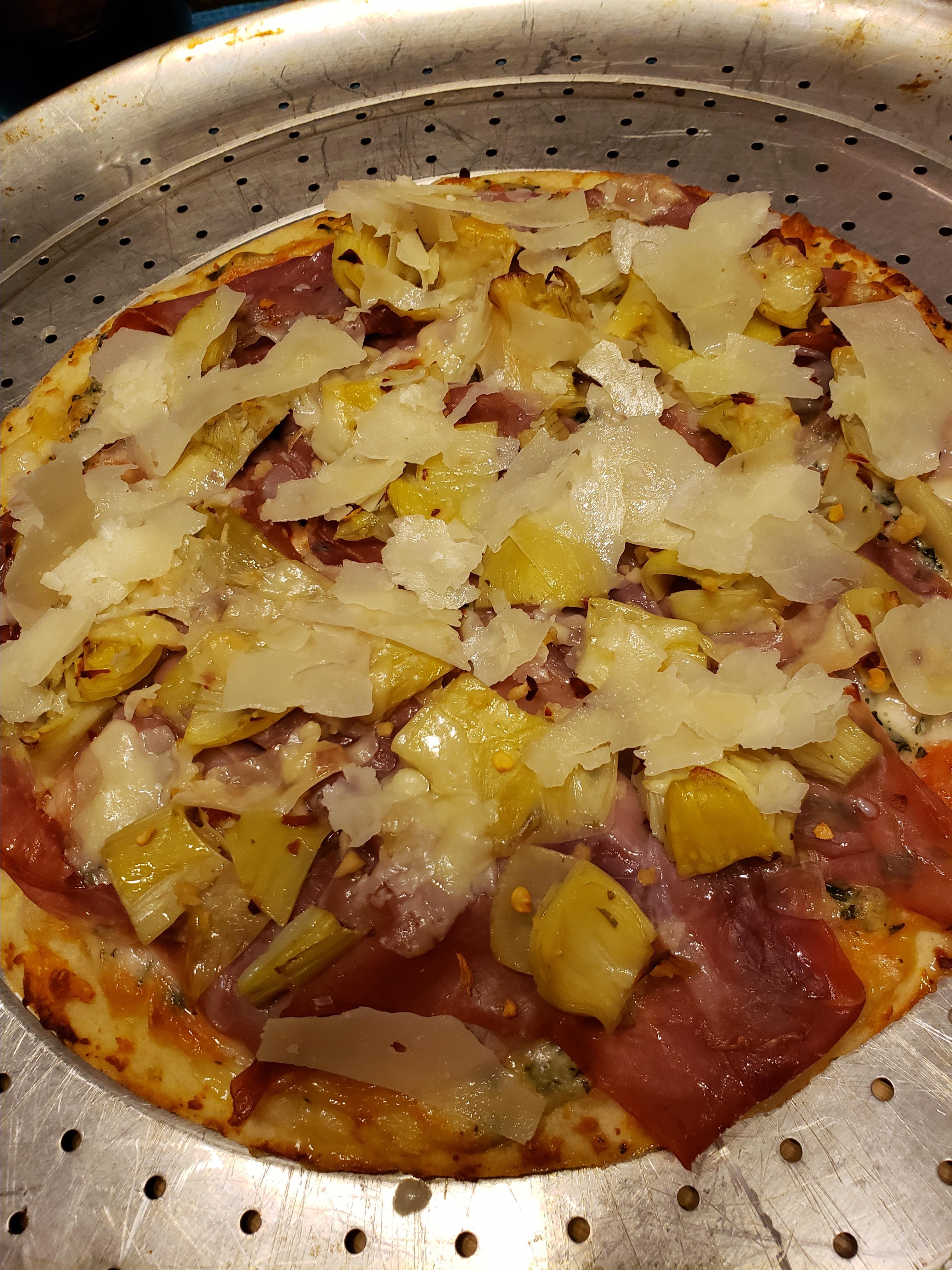 Prosciutto-Artichoke Pizza Sheila LaLonde