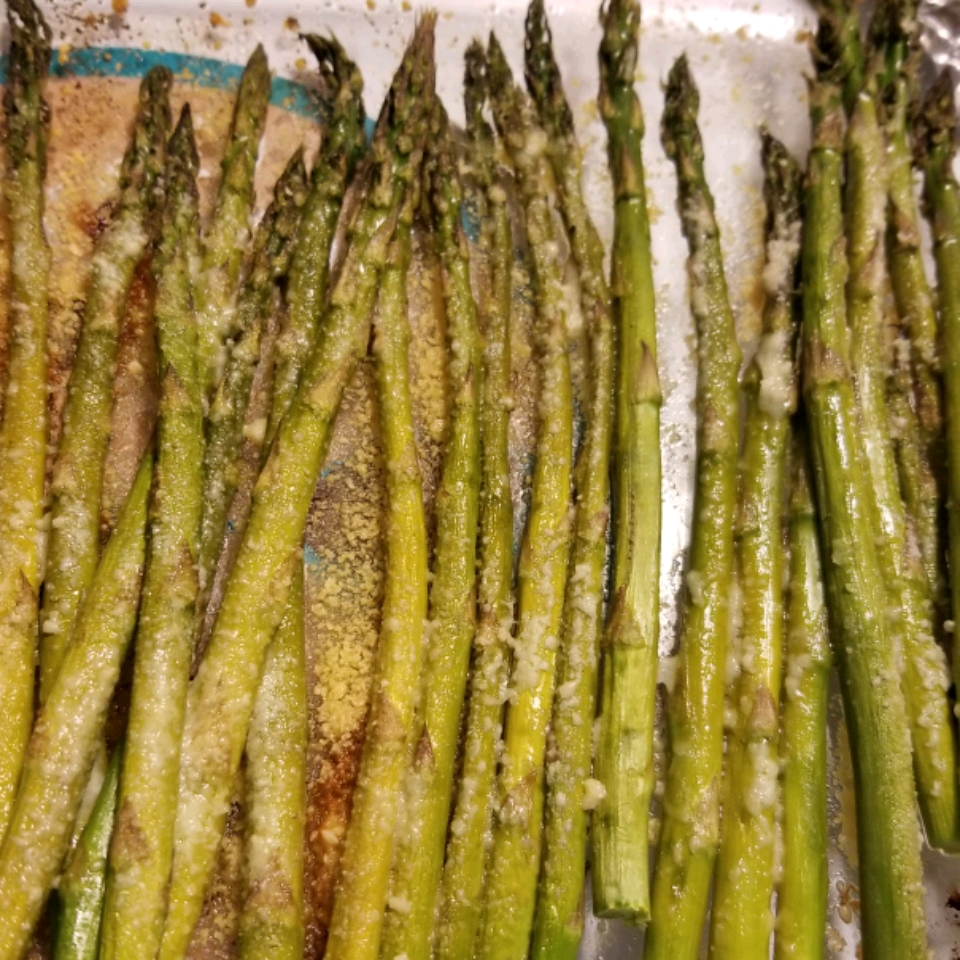Roasted Asparagus with Parmesan WendyMWT
