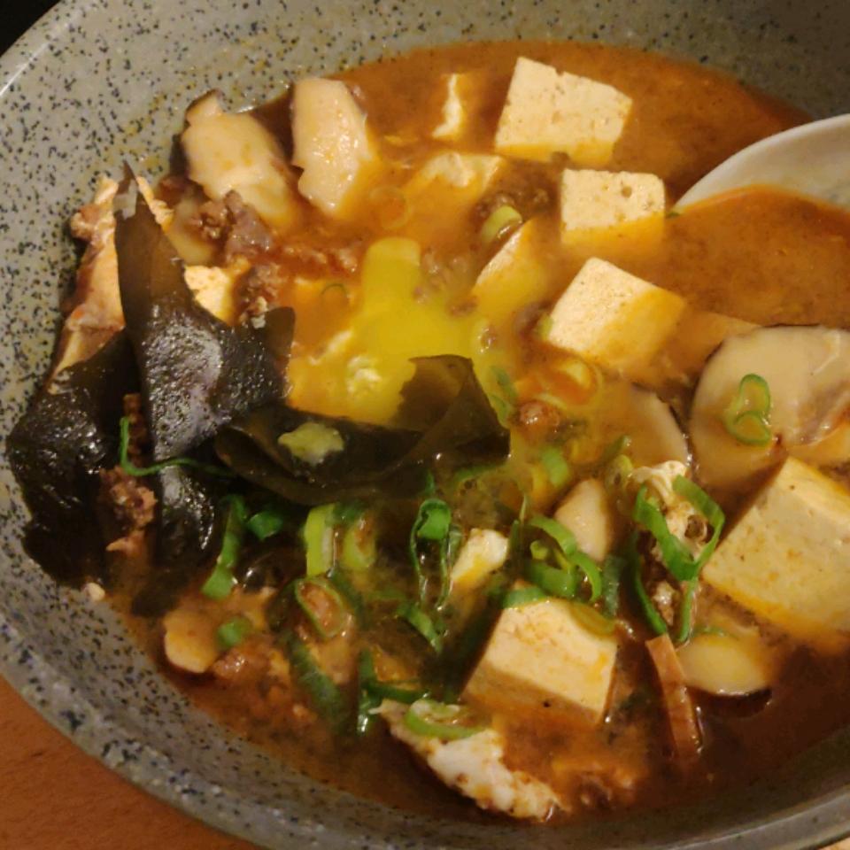 Korean Soft Tofu Stew (Soon Du Bu Jigae) laughingcloud