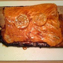 Pepper-Honey Cedar Plank Salmon