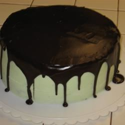 Mint Buttercream Frosting With Dark Chocolate Glaze KeiJoy