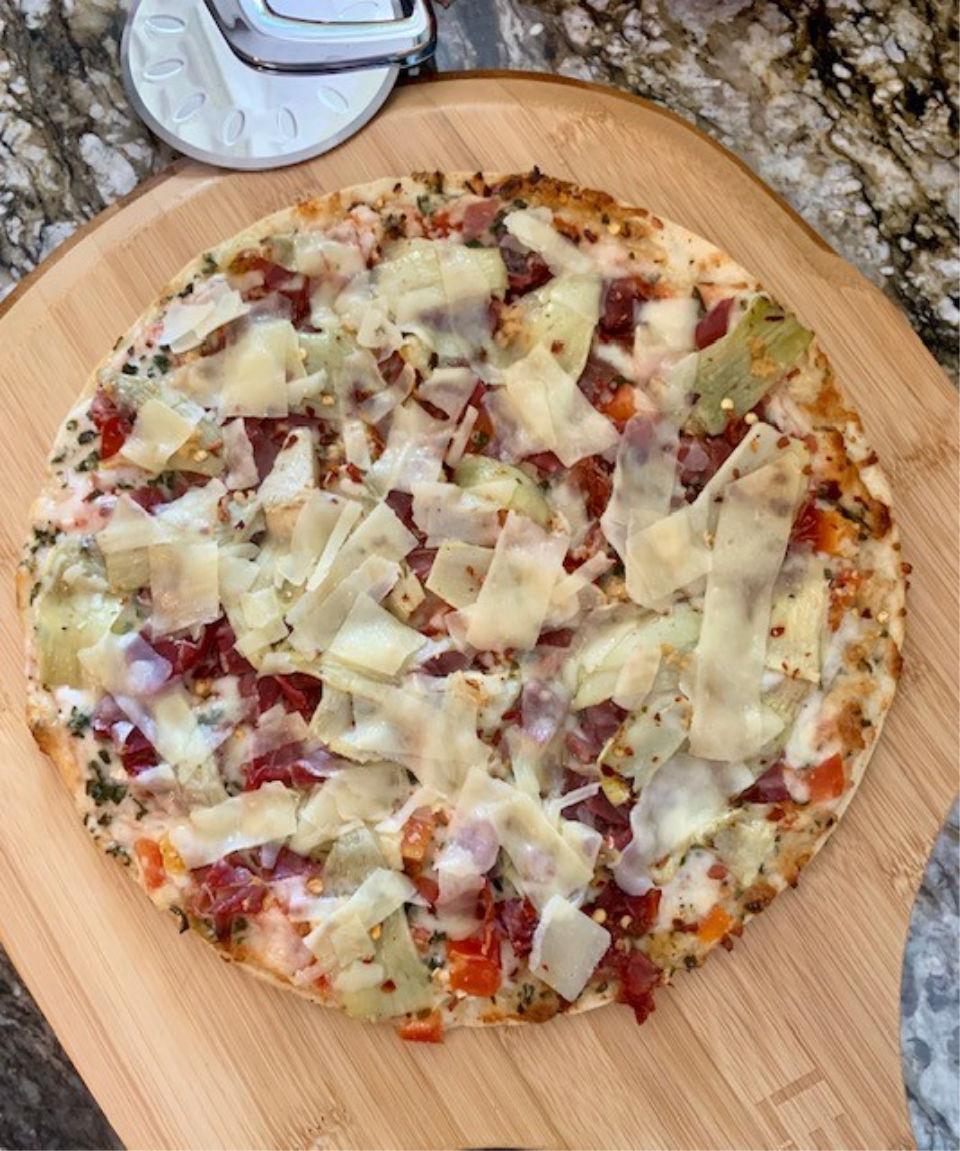 Prosciutto-Artichoke Pizza