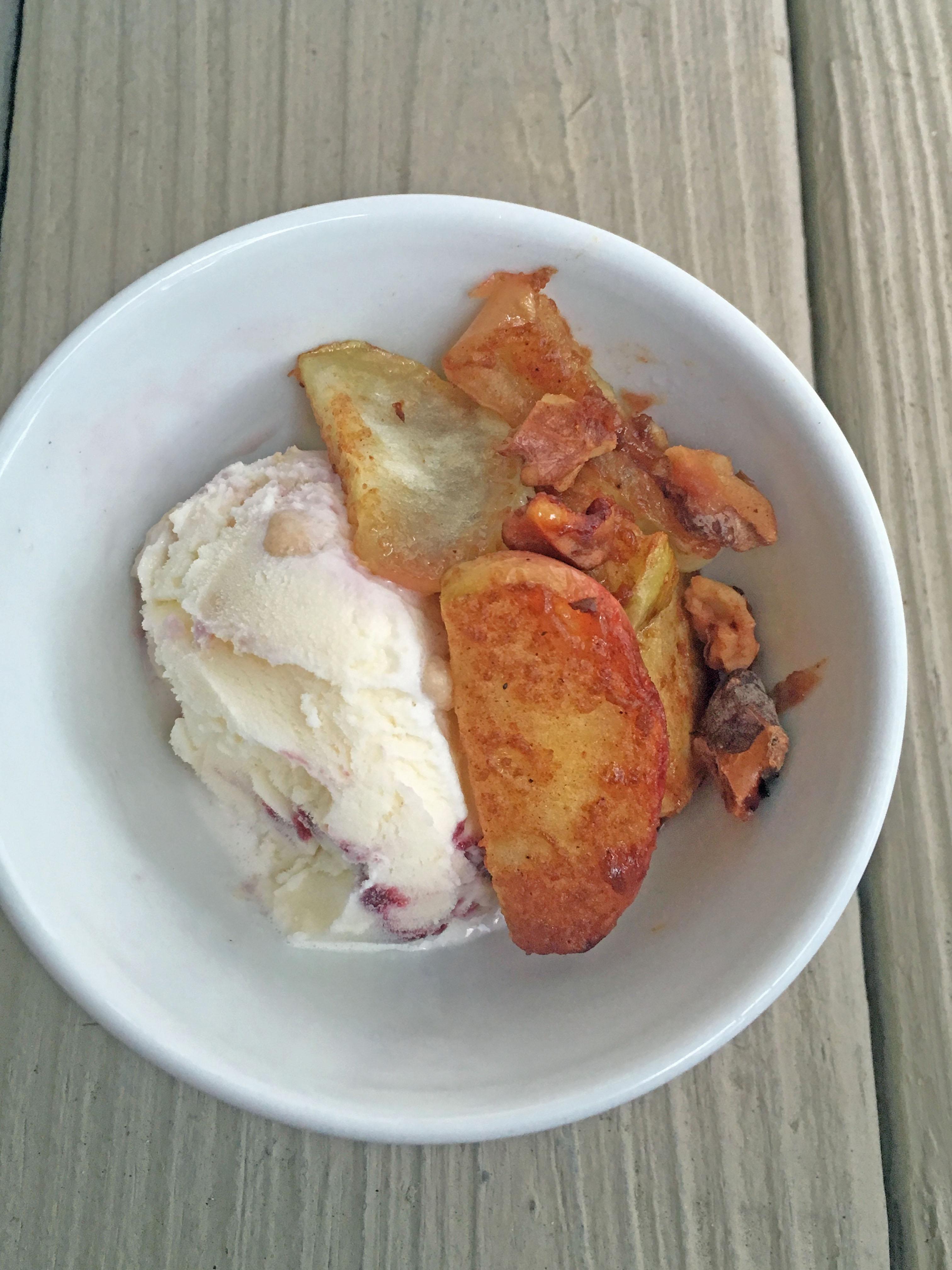 Air Fryer Brown Sugar and Pecan Roasted Apples JARRIE