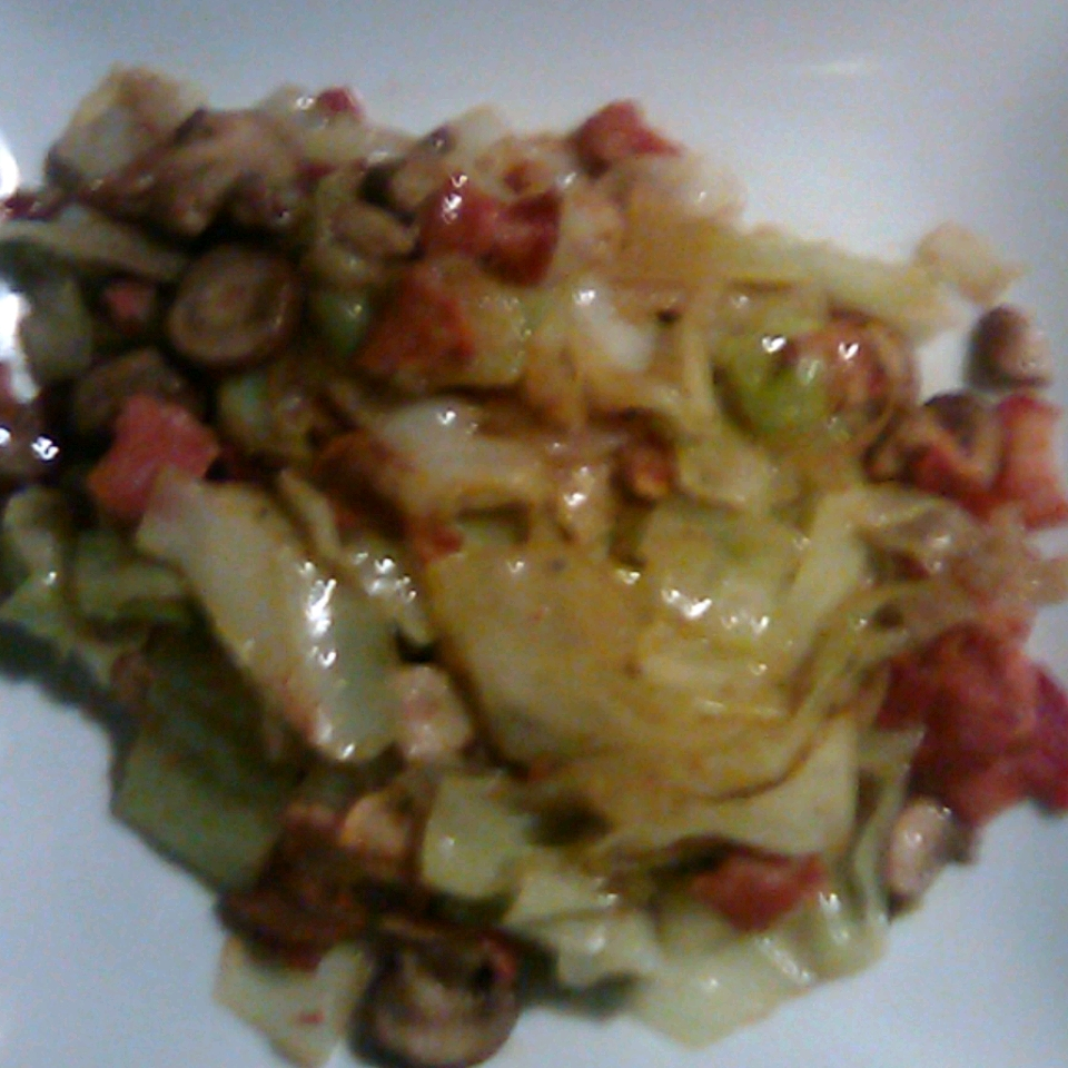 Southern Fried Cabbage with Bacon, Mushrooms, and Onions Richard Wheaton