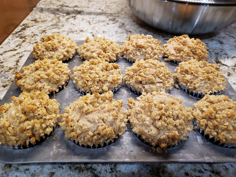Apple Cider Streusel Muffins