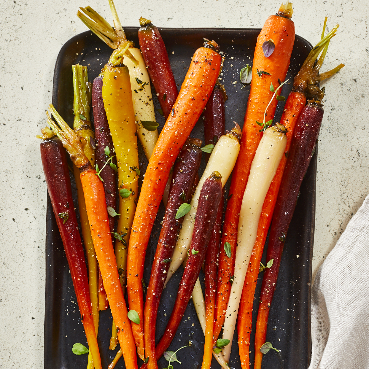 Bright and fresh, these candied carrots have just a hint of sweetness from the honey and citrus. This one-pan dish is quick and easy to make, but also has such a pretty presentation that it works both as an entertaining-worthy or weeknight side dish. Look for carrots that are similar in size so they cook evenly. Source: EatingWell.com, October 2019