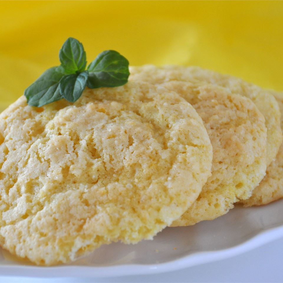 "Fresh lemon juice and lemon zest give these easy cookies a double dose of citrus flavor. Recipe creator Jennifer Lipka says, ""These cookies will have a nicely browned edge if baked on a regular thin cookie sheet rather than a thick or insulated one."""