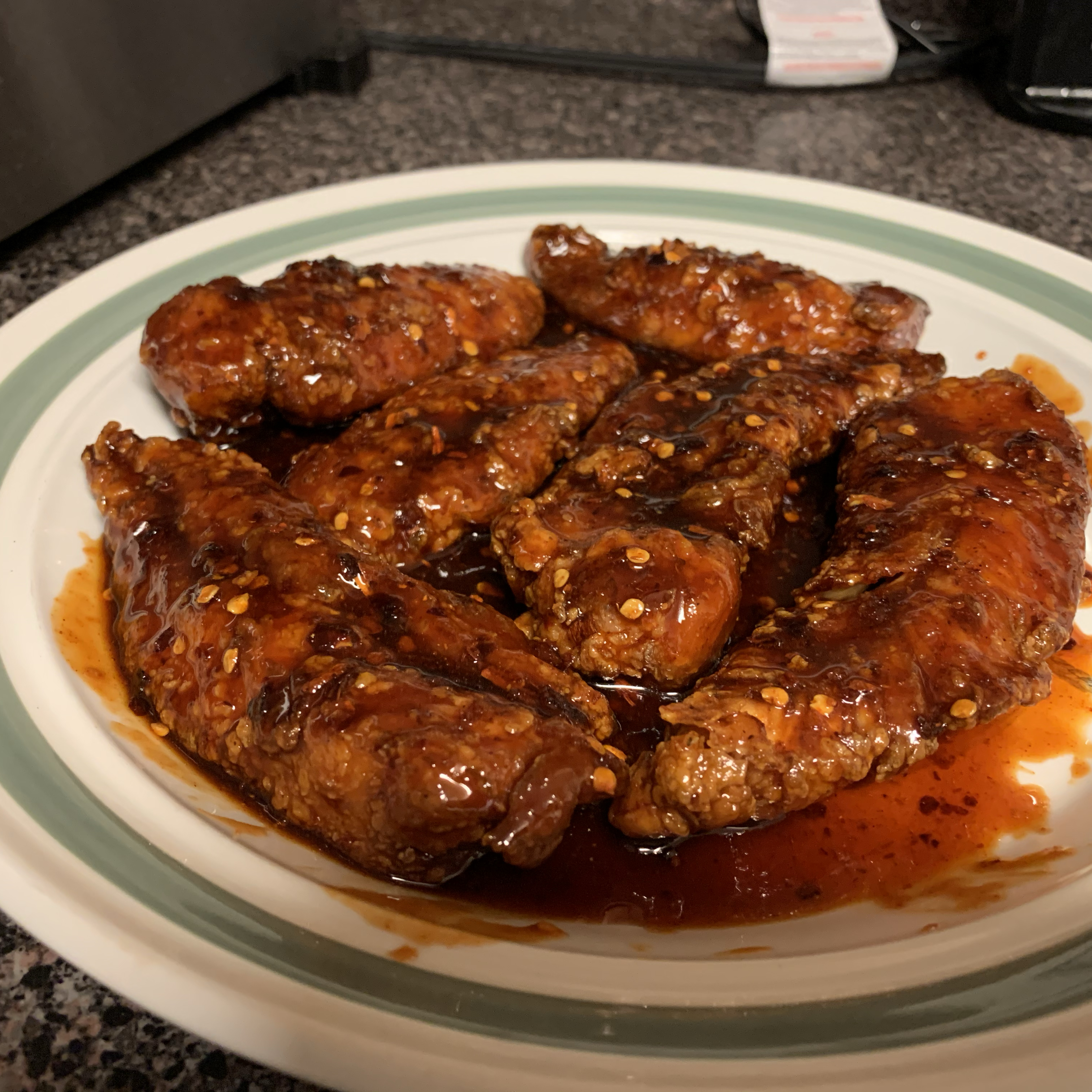 Spicy Korean Fried Chicken with Gochujang Sauce Michael Gainey
