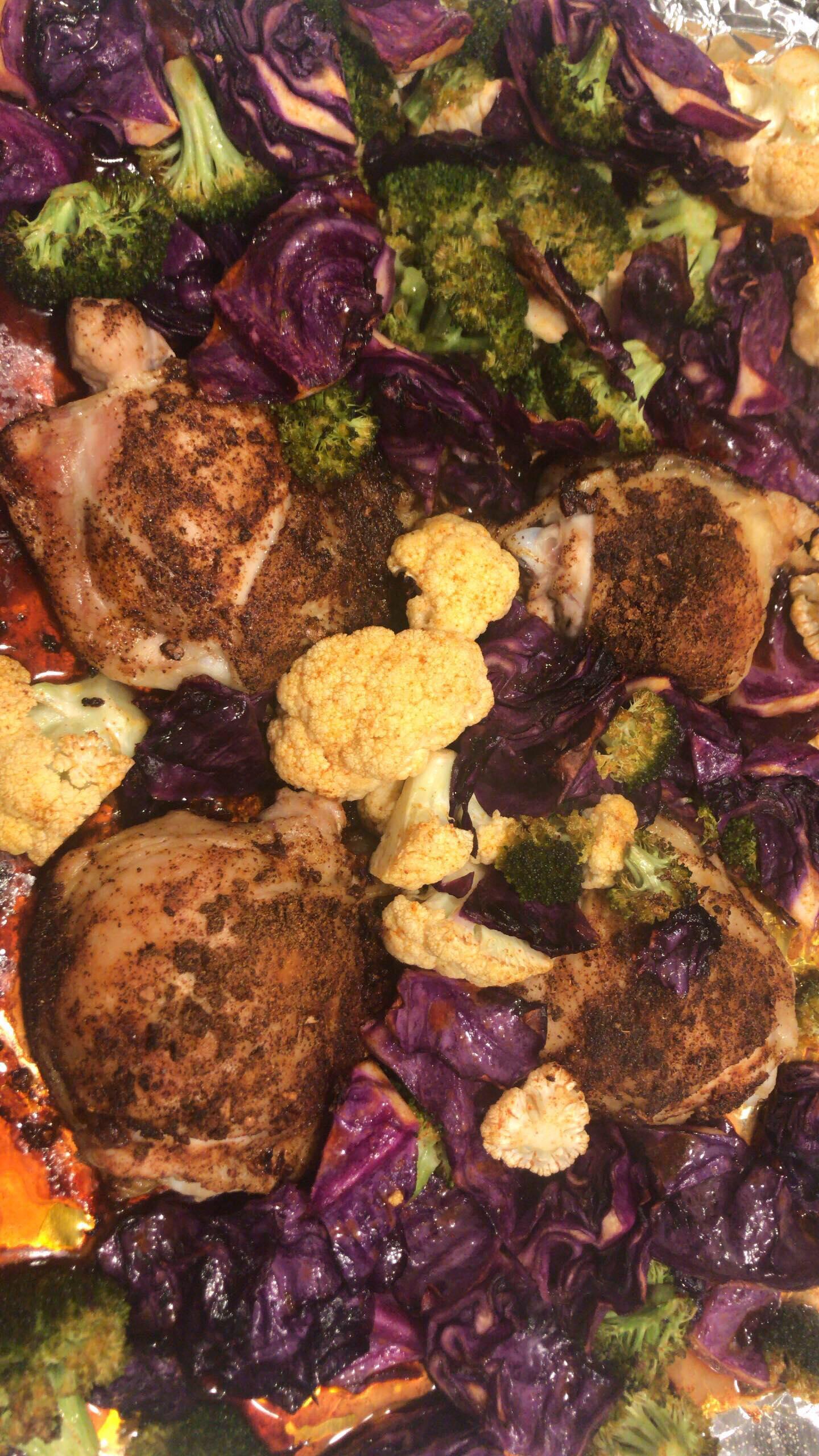 Keto Smoky Chicken and Vegetable Sheet Pan Dinner itzflowa