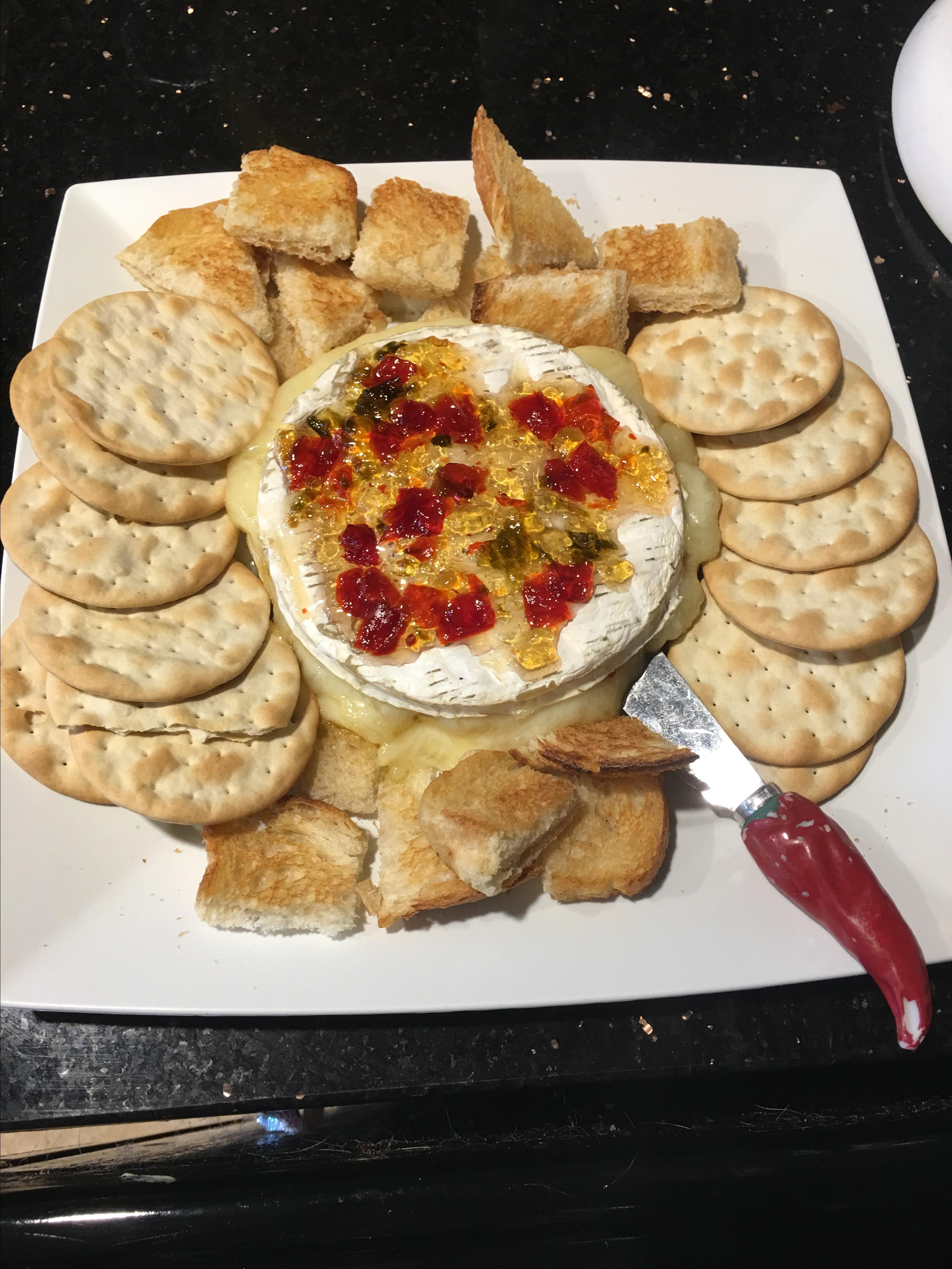 Garlicky Baked Brie Pepper Lane