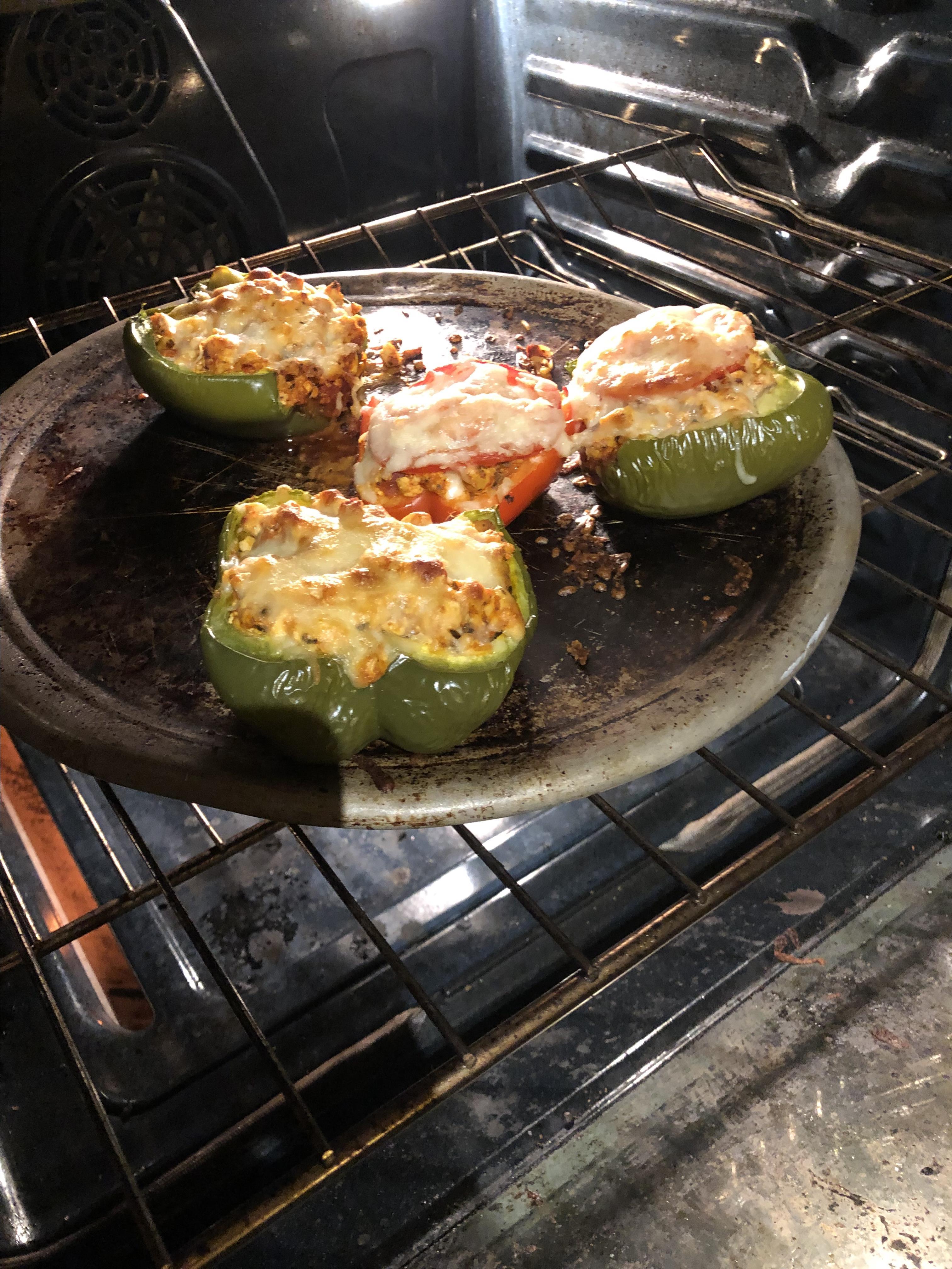 Tofu and Rice Stuffed Peppers
