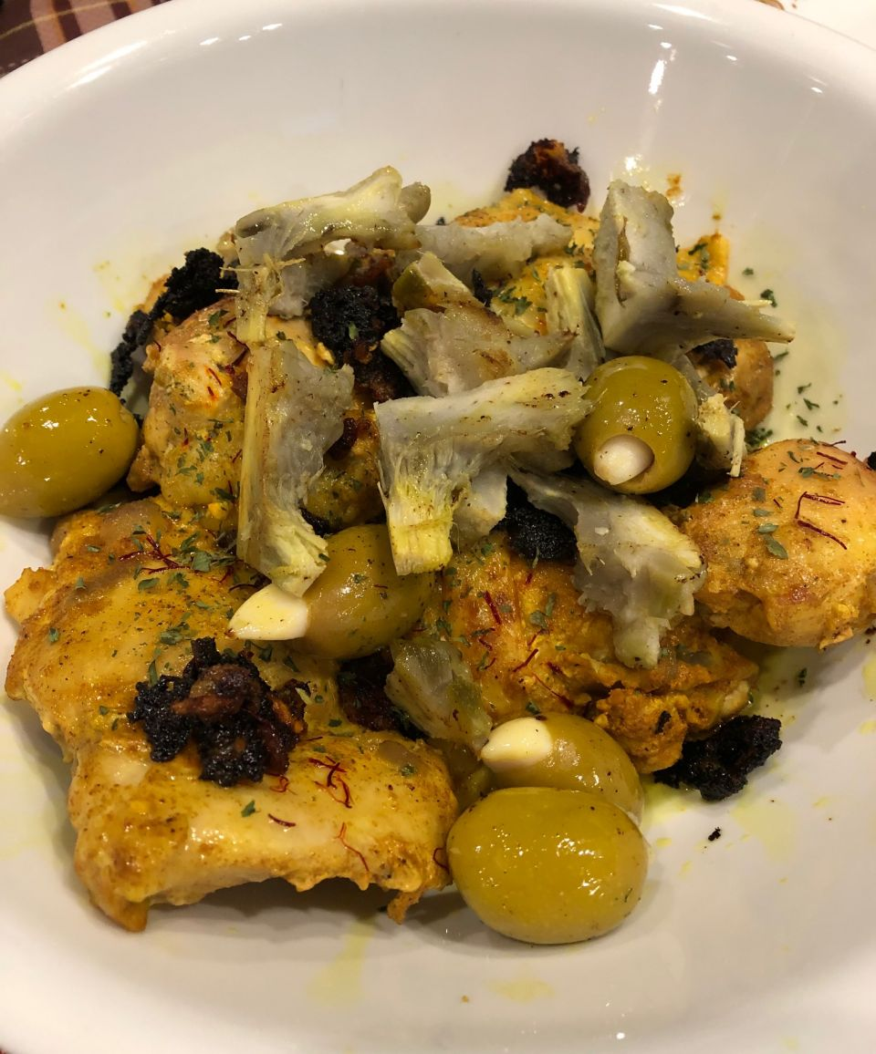 Moroccan Chicken with Saffron and Preserved Lemon