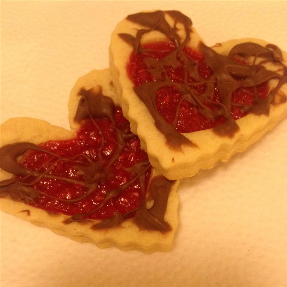 Old Fashioned Butter Valentine Cookies Dipped in Chocolate MSLO Tester