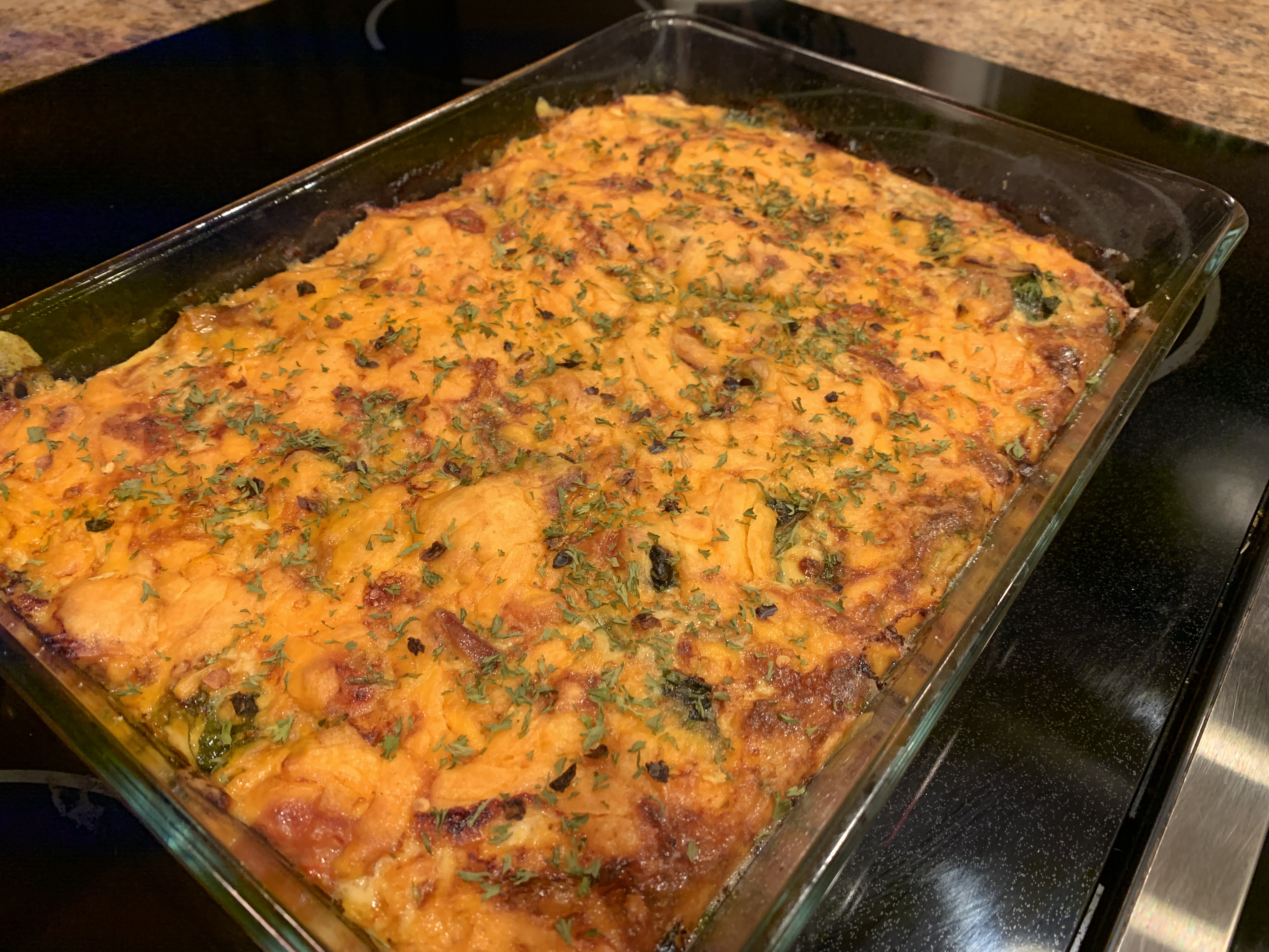 Cheesy Sausage and Egg Keto Casserole SIDNEYYIN