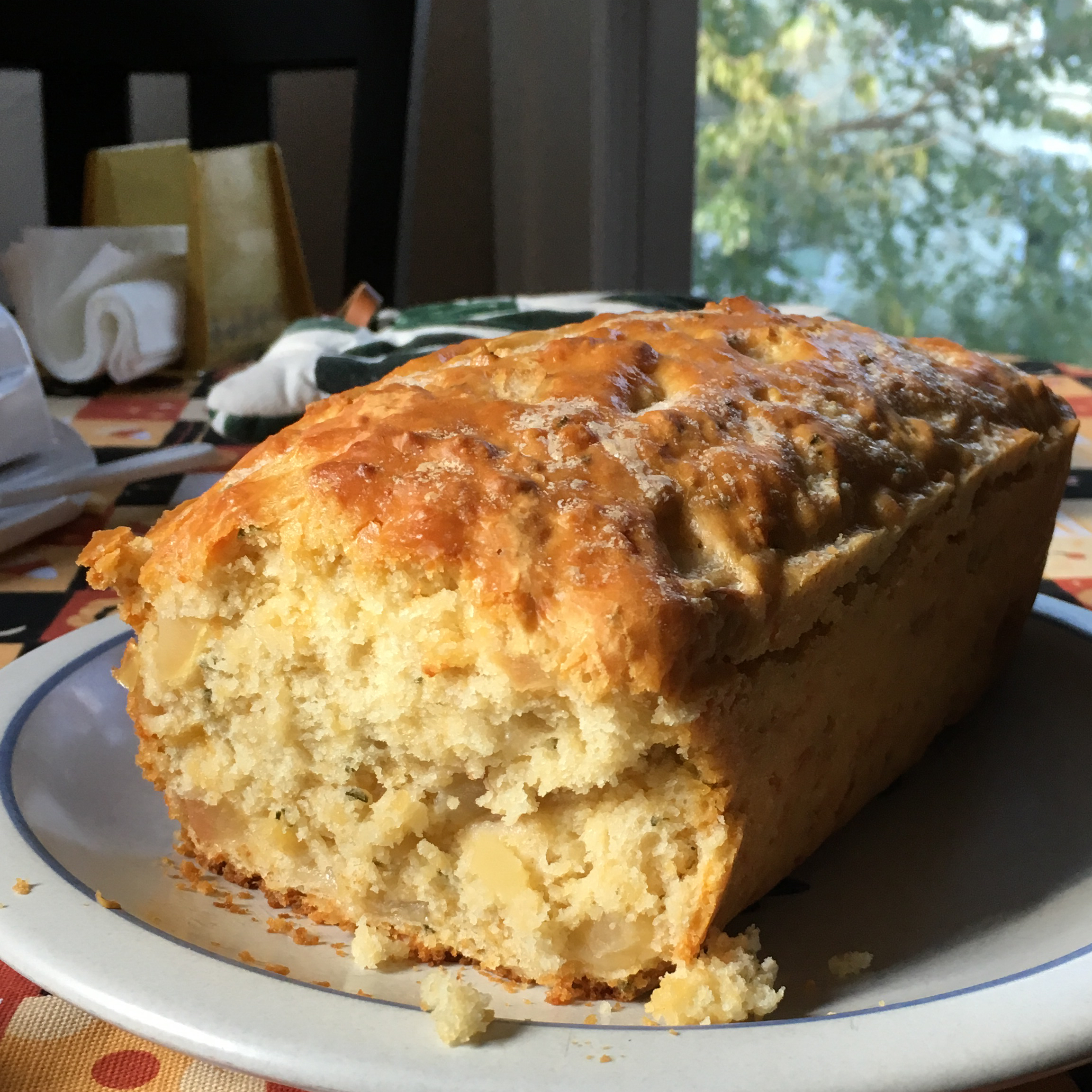 Apple, Cheddar, and Rosemary Beer Bread Sami Wyckoff