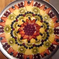 Fruit Pizza with White Chocolate