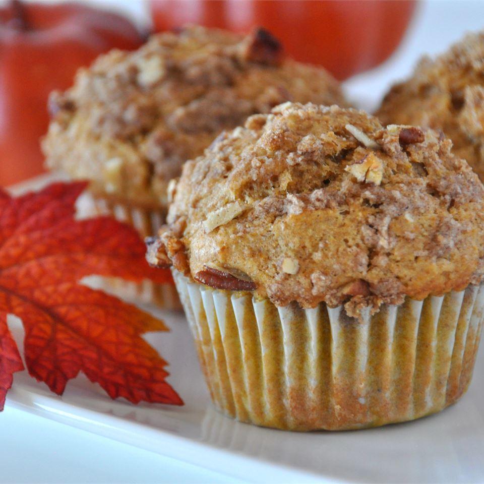 Whole Wheat Pumpkin-Applesauce Muffins