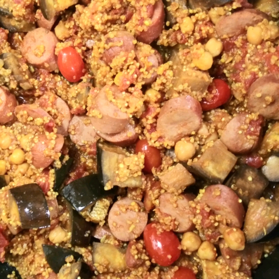 Moroccan-Style Chicken and Eggplant Stew