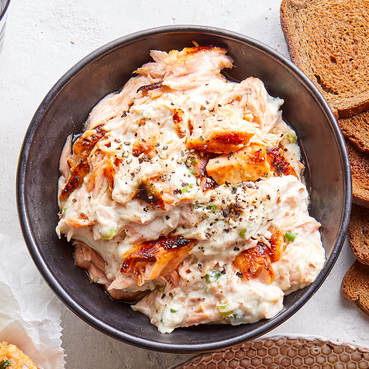 Easy Scallion-Salmon Dip
