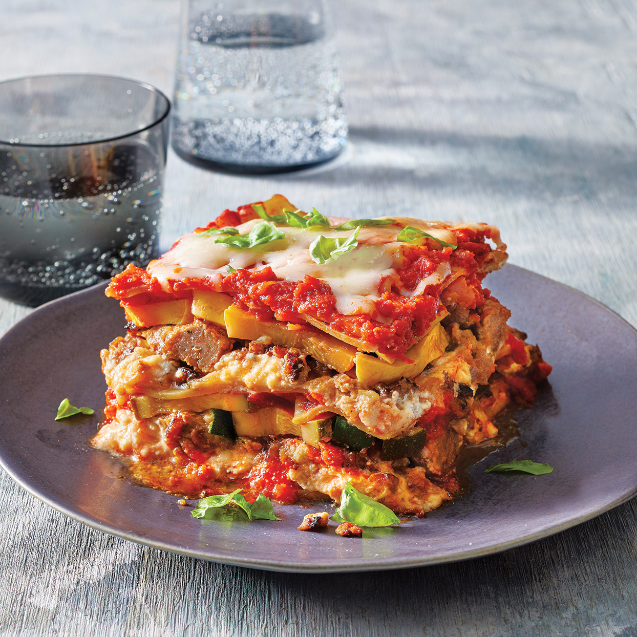 Kids will love this lasagna made with turkey sausage in the Crock Pot--and parents will love that it's packed with vitamin-rich zucchini and squash! The veggies also add moisture to the slow-cooker lasagna, which keeps it from drying out. Serve with garlic toast, if desired. Source: Everyday Slow Cooker