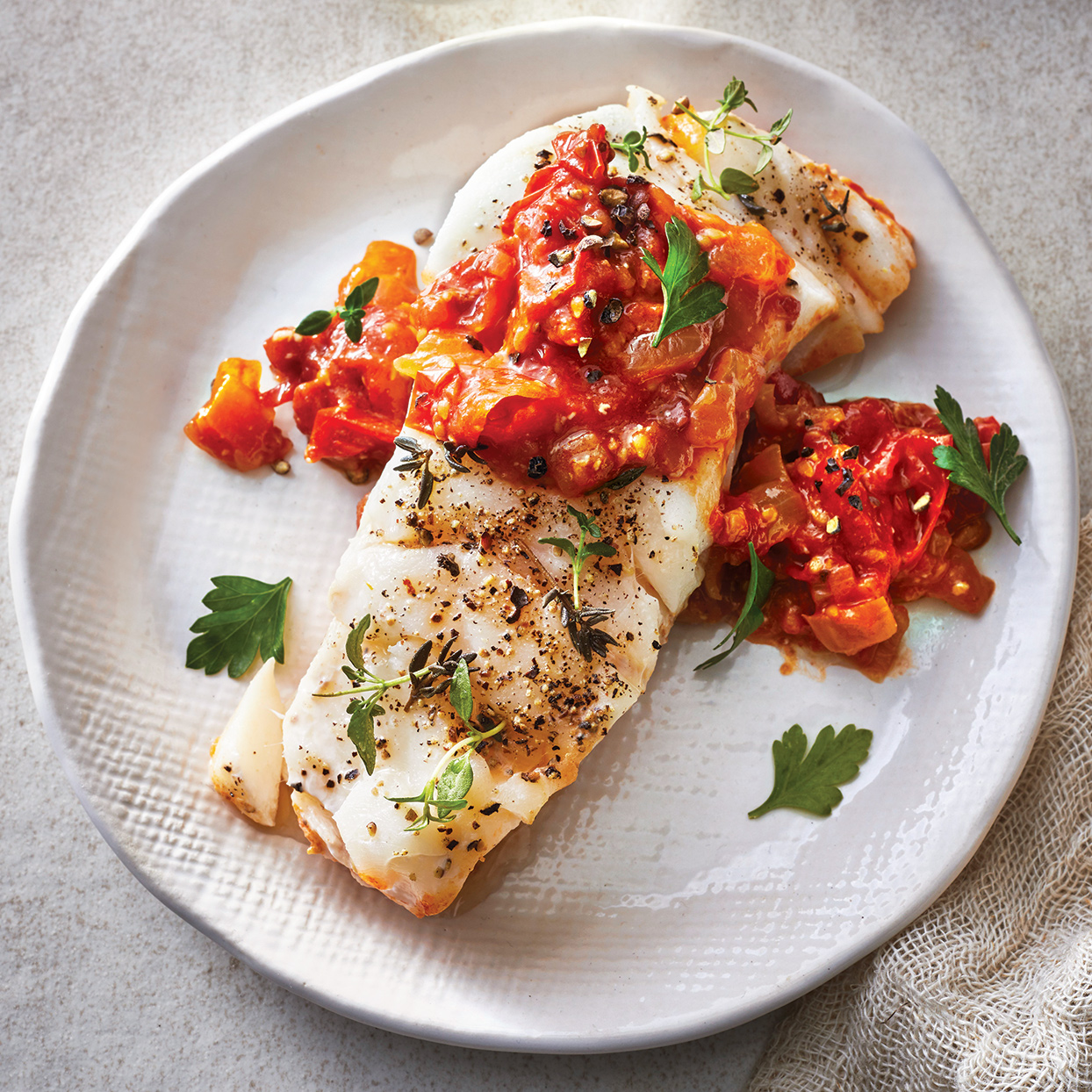 Slow-Cooker Cod with Tomato-Balsamic Jam Cooking Light