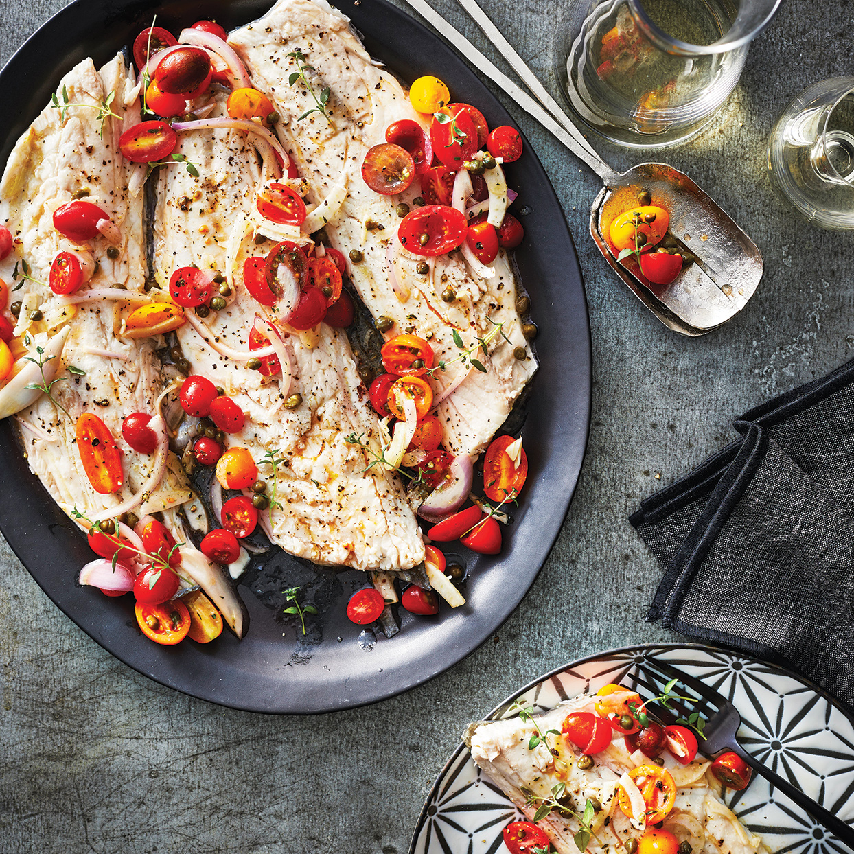 Slow-Cooker Sea Bass with Tomato-Fennel Relish Cooking Light