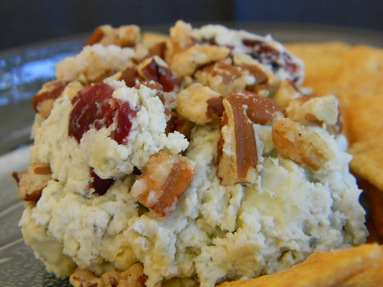 Blue Cheese, Sweet Pecan, and Cranberry Spread AllrecipesPhoto