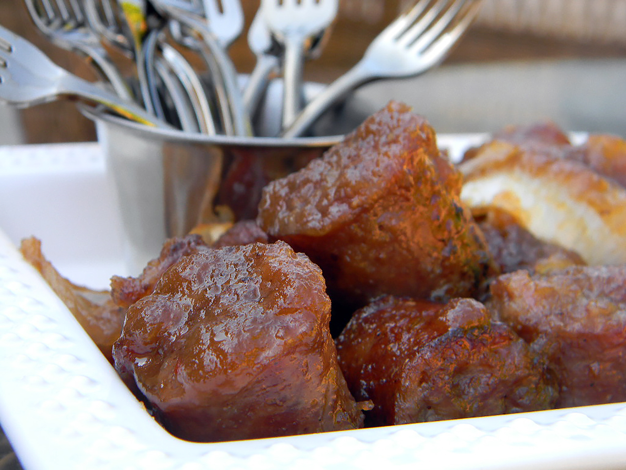 Sausage Applesauce Appetizer