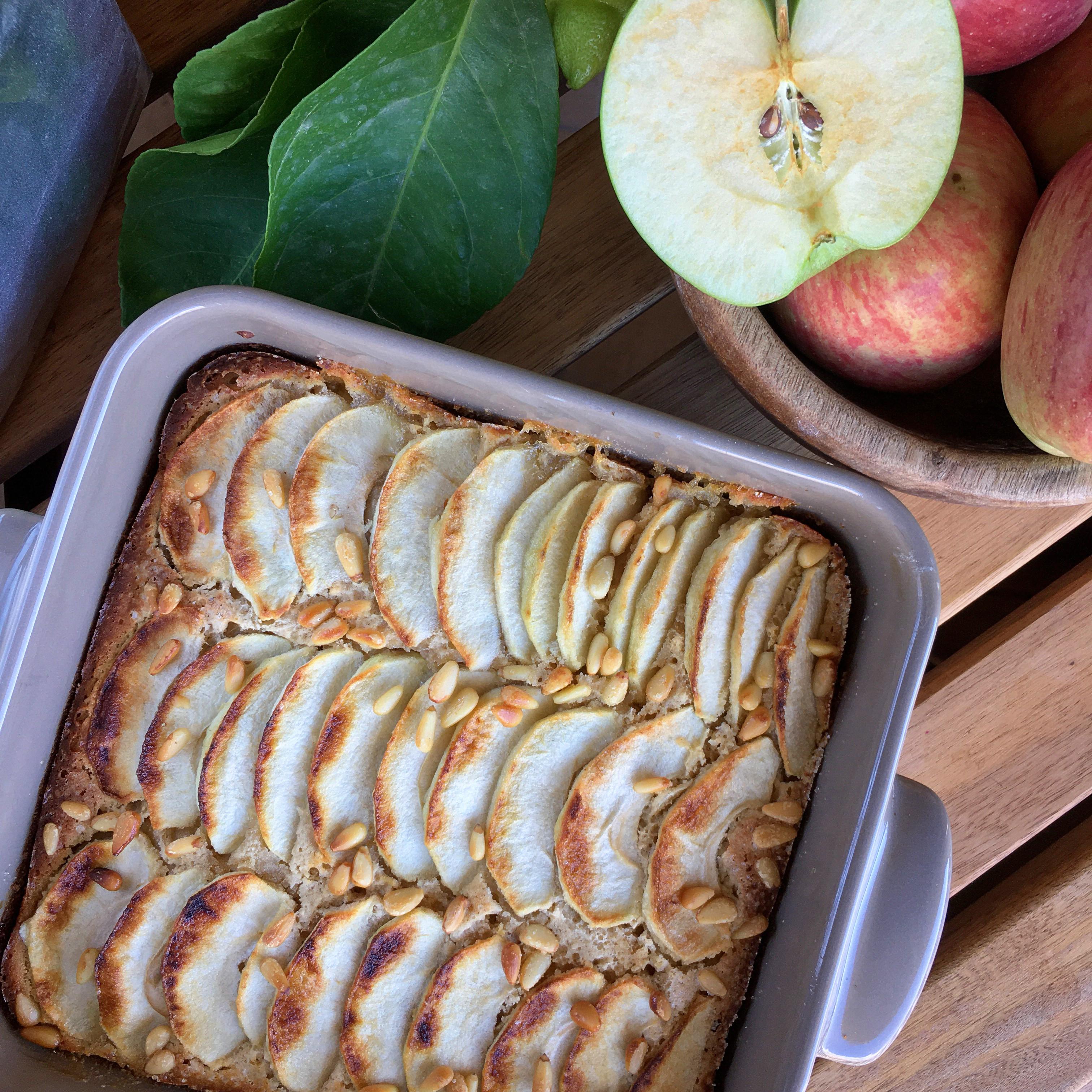 Cassava Flour-Apple Cake