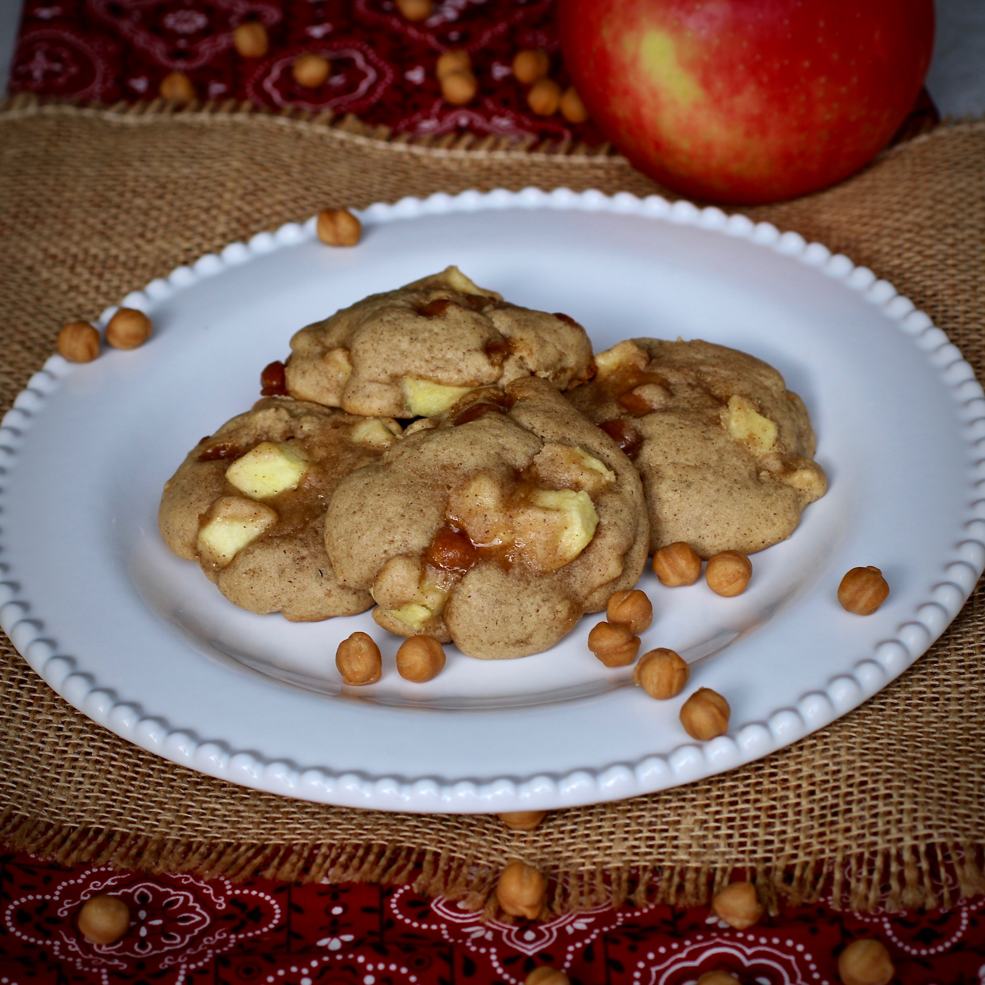 Gooey Caramel Apple Cookies