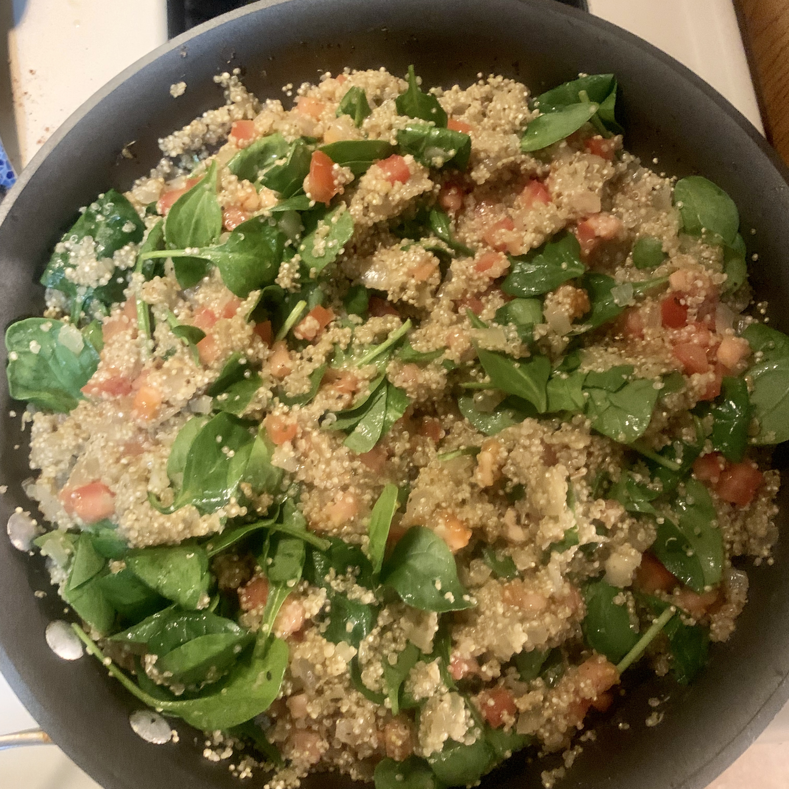 Carrot, Tomato, and Spinach Quinoa Pilaf libbyg
