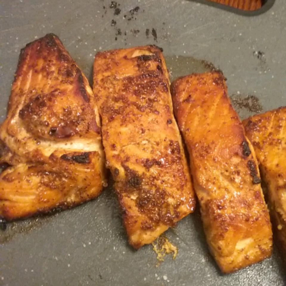 Salmon with Brown Sugar Glaze