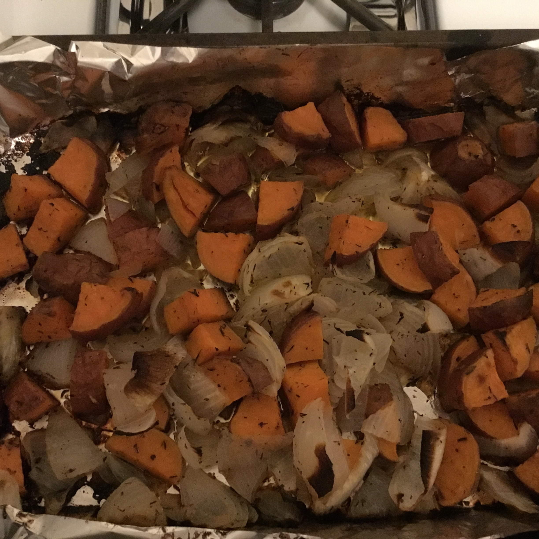 Roasted Sweet Potatoes & Onions simon dz