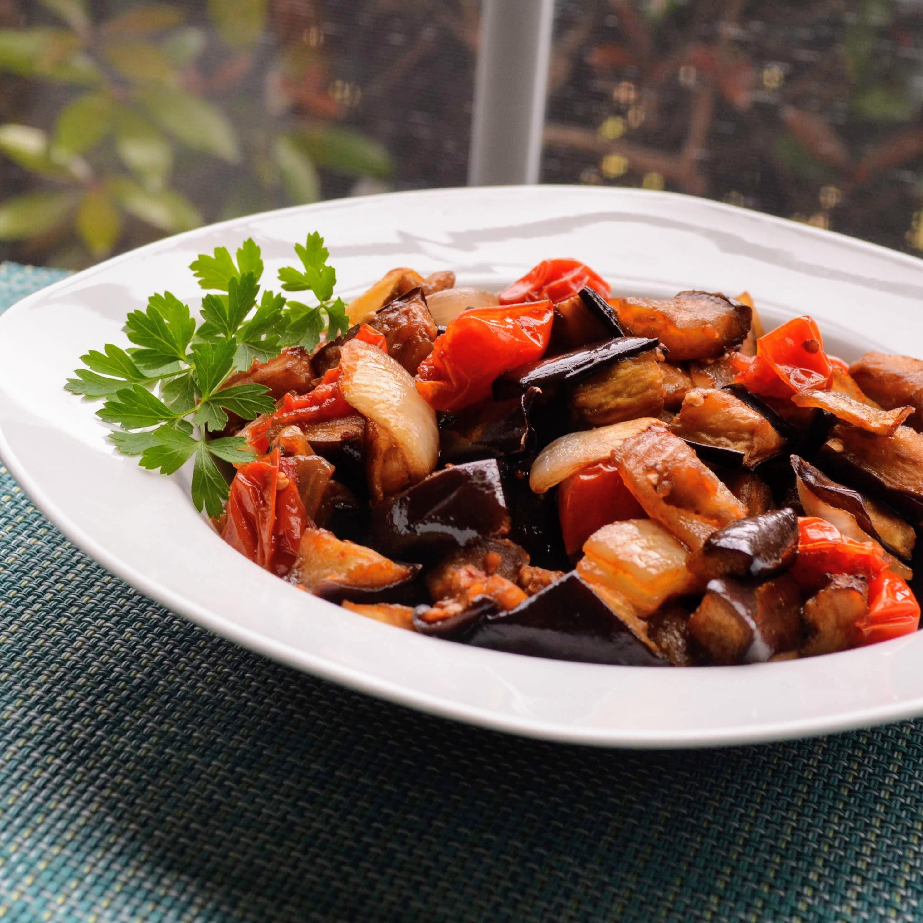 Balsamic-Roasted Eggplant