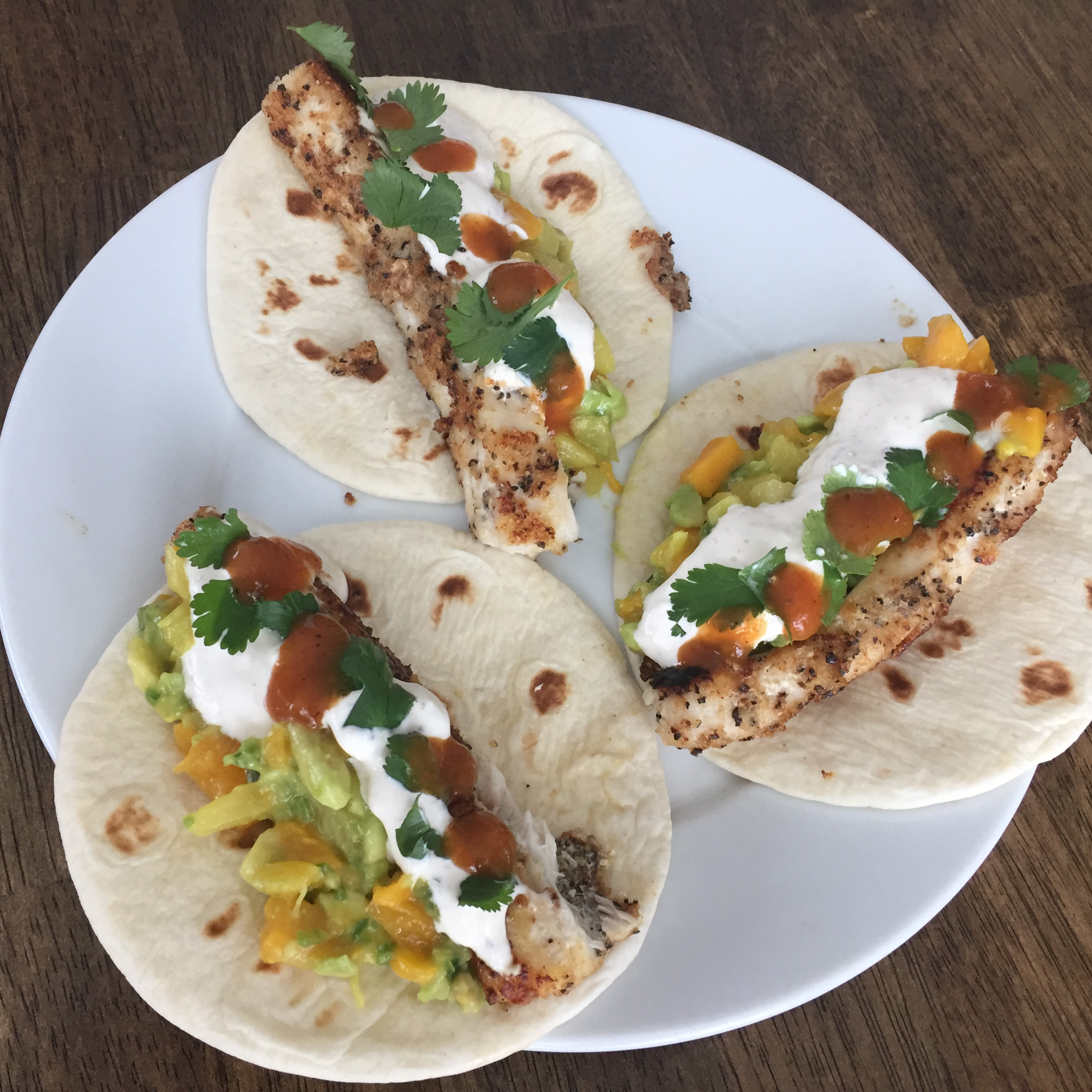 Soft Mahi Mahi Tacos with Ginger-Lime Dressing Fiestaqueen