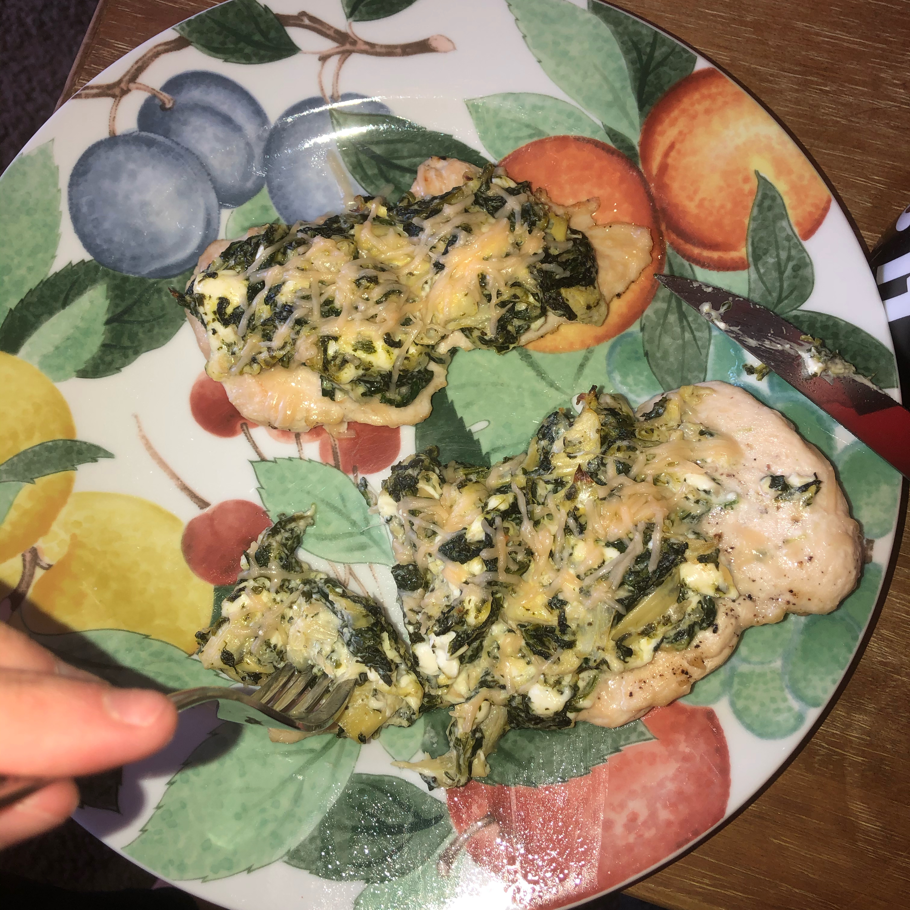 Keto Spinach-Artichoke Chicken